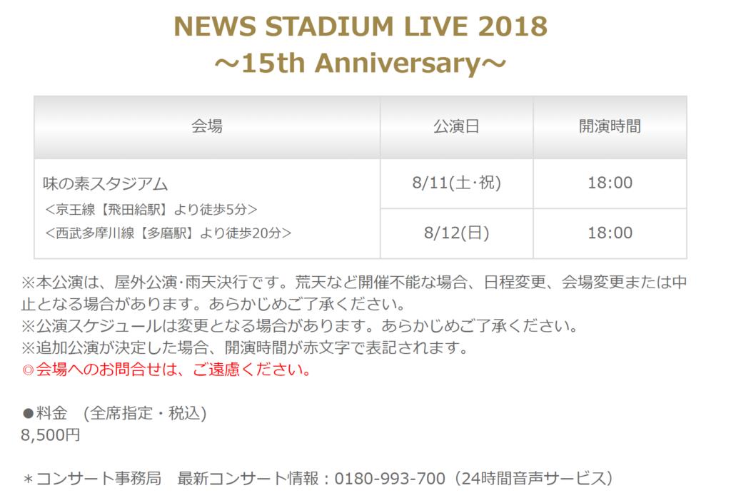 15周年NEWSコンサート