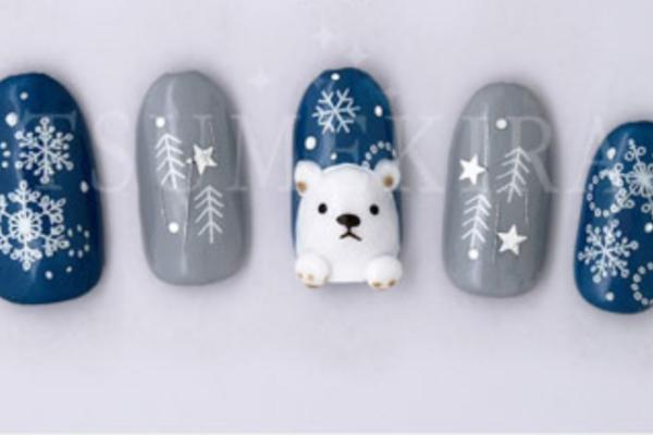 雪の結晶ネイルをセルフで簡単に!やり方・動画や綺麗に描くコツまとめ
